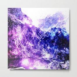 galaxy mountains Metal Print