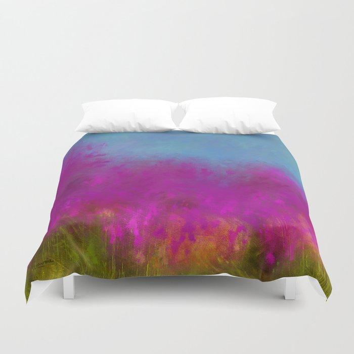 Wildflowers Mod Impressionism Duvet Cover