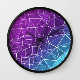 Pink, Purple, and Blue Triangles Wall Clock