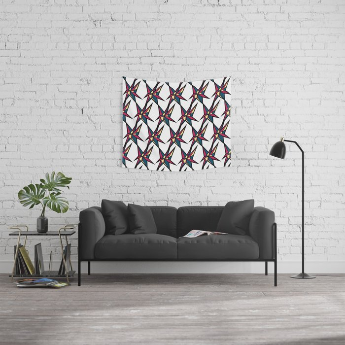 Crystallis [WHITE] Wall Tapestry