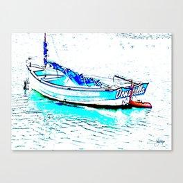 Aqua Boat Canvas Print