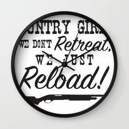 Country Girls & Guns Wall Clock