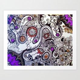 intangled colors  Art Print