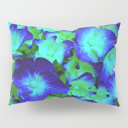 Midnight Blue Hydrangea Pillow Sham