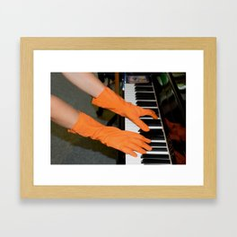 Quiet piano Framed Art Print