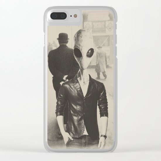 Time traveler Clear iPhone Case