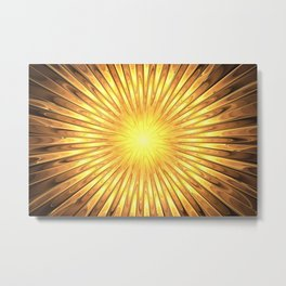 Rays of GOLD SUN abstracts Metal Print