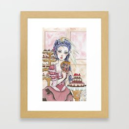 Toulouse the Rococo Girl Framed Art Print