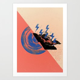 Sun X Storm Art Print