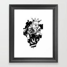 Tower Shuffle Framed Art Print