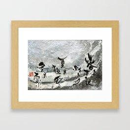 Snow winter Framed Art Print