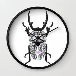 Aztec Beetle Wall Clock
