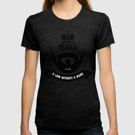 A man without a beard T-shirt