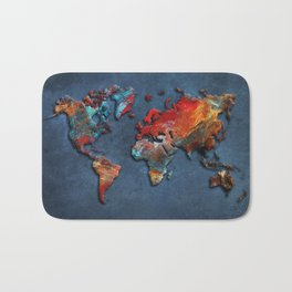 World Map 2020 Bath Mat