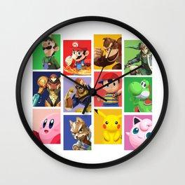 Super Smash Bros Veteran Wall Clock