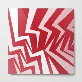 Fangs Series - Red Metal Print