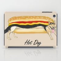 hot dog iPad Cases featuring Hot Dog by Dano77