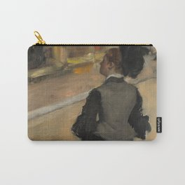 Woman Viewed from Behind (Visit to a Museum) Carry-All Pouch