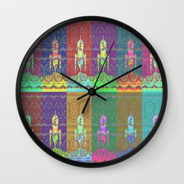 Twelve Colorful Space Rockets Wall Clock