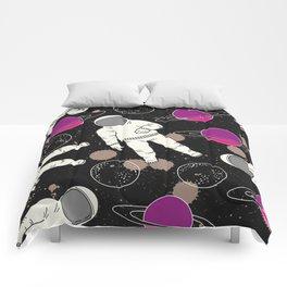 Cosmic Hipster Astronaut Comforters