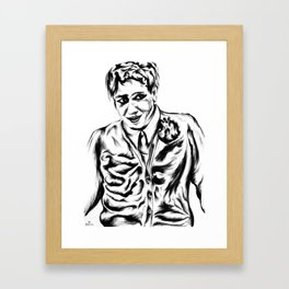 Young boy with multiple innards Framed Art Print