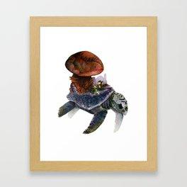 Mario in Raccoon Suit Framed Art Print