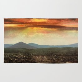 Sunset from Cripple Creek, Colorado, ca. 1899 Rug