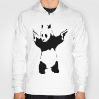banksy Hoodies featuring Banksy Panda1 by vie3