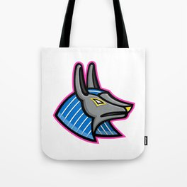 Anubis Egyptian God Mascot Tote Bag