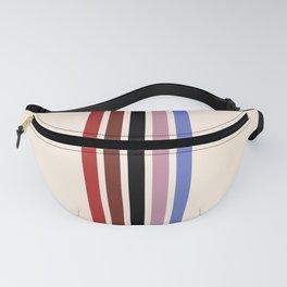 Colorful Retro Stripes Beige Fanny Pack
