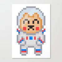 8bit Canvas Prints featuring 8Bit Astrobear by Bear Picnic