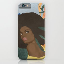 Afro lady #art print#society6 iPhone Case