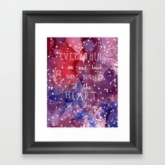 born at the heart of a star Framed Art Print