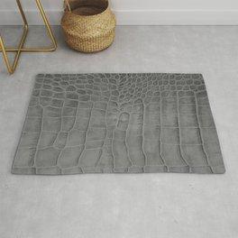 Croco leather effect - grey Rug