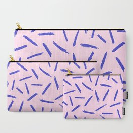 Crayon Scribble Pattern Pink Blue Carry-All Pouch