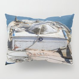 Moored Fishing Boat Pillow Sham