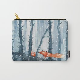 Foxes in forest Carry-All Pouch