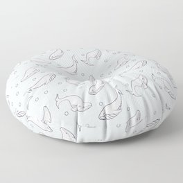 Whales and bubbles Floor Pillow