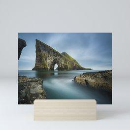 Drangarnir Sea Stacks Faroe Islands - Landscape Photography Mini Art Print