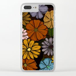 Abstract #418 Flower Power #6 Clear iPhone Case