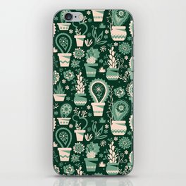 Paisley succulents iPhone Skin
