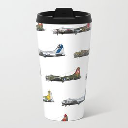 Classic B-17 Flying Fortress Continuous Pattern Travel Mug