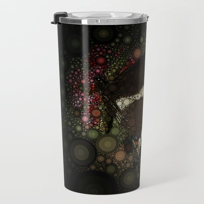 Butterfly Circle Mosaic Design Travel Mug