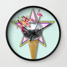 DISCO ICE CREAM Wall Clock