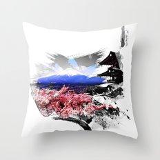 Japan - Fuji Throw Pillow