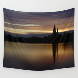 Lichfield Cathedral Sunset Reflection Wall Tapestry