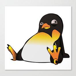 Chaotic Penguin Canvas Print