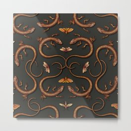 Lizards, Moths & Insects - Reptile Pattern Metal Print