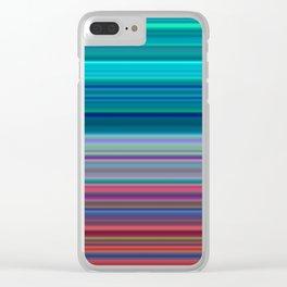 Blurry Saturn Stripes Clear iPhone Case