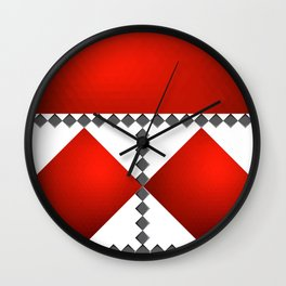Luxury pattern of red and grey background 03 Wall Clock